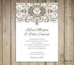 Blank Printable Wedding Invitations Printable Wedding Invitation