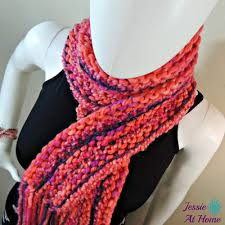 Knitted Scarf Patterns Using Bulky Yarn Delectable 48 Free Knit Scarf Patterns Using Bulky Yarn FaveCrafts