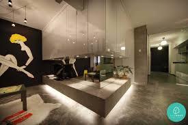 Small Picture Simple Industrial Interior Design Singapore Home Design Popular