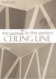 how to get a crisp line everytime where the ceiling and wall meet best trick ever