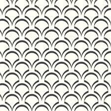 抽象的なシームレス パターン白黒波日本のベクトルの背景