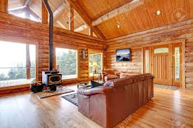 Cabin Windows large luxury log cabin house living room with large windows stock 2851 by uwakikaiketsu.us