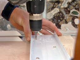 attach glass block channel to wood frame