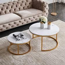 living room side end tables metal legs