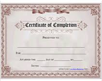 Completion Certificates Printable Certificate Of Completion Awards Certificates