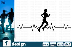 157 svg vectors & graphics to download svg 157. Heart Beat Runner Girl Graphic By Svgocean Creative Fabrica
