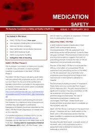 National Inpatient Medication Chart Medication Australian Commission On Safety And Quality In