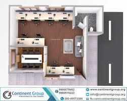 office floor design. 3d Floor Plan Top View Office Interior Bangalore Design M