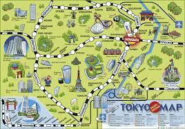 tokyo tourist map  new zone