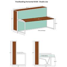 horizontal murphy bed. Brilliant Bed Freestanding Horizontal B Esk Double Size Specs Murphy Bed Intended Horizontal Murphy Bed A