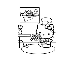 60 hello kitty printable coloring pages for kids. Hello Kitty Coloring Page 10 Free Psd Ai Vector Eps Format Download Free Premium Templates