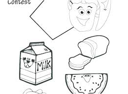 Food Coloring Pages To Print Food Pyramid Printable Coloring Page 8