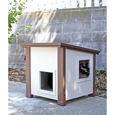 outdoor cat house cat house has 2 entry exit doors diy outdoor cat tree house