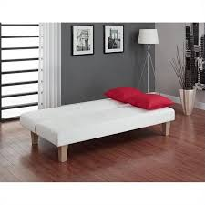 aria futon sofa bed white walmartcom aria futon sofa bed
