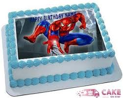Cake On Time Order Spiderman Cake Free Fresh Eggless Delivery