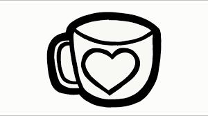 Tổng hợp các bức tranh tô màu cái ly, cái cốc cho bé tô màu