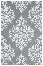 rizzy eden harbor wool rectangular area rug 3 x 5 heather grey white ornamental