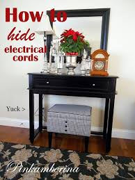 Hide Electrical Cords Hiding How To Home Design PinkAmberina 0