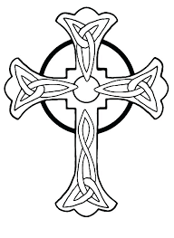 Stained Glass Cross Coloring Page Stained Glass Coloring Pages