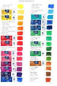 Colour Chart Cotman Watercolours Watercolor Painting