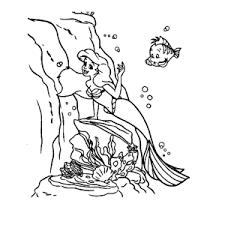 Leuk Voor Kids Ariel De Kleine Zeemeermin Kleurplaten