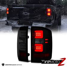 SINISTER BLACK] Smoke LED Neon Tube Tail Lights 2016 2017 Chevy ...