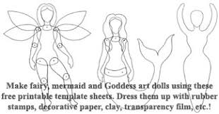 The Enchanted Gallery Paper Art Doll Body Template Fairy Wings