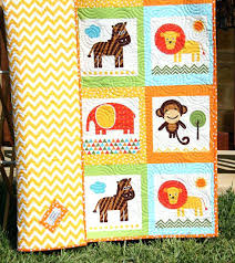 baby quilt animal patchwork safari zoo jungle nursery crib bedding cot blanket by sunnysidedesigns2 14900 baby