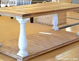 before picture of baer coffee table how to distress furniture using milk paint and a