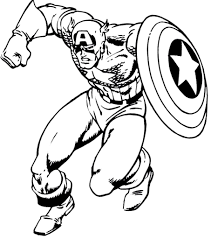 Superhero Captain America 27 Coloring Pages