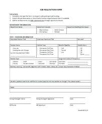 Recruitment Form Template Employee Requisition Example Hr Bhimail Co