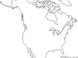 North America Coloring Sheet North Map Coloring Page Printable