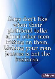 Girlfriend talking about other men