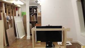 tips on building a tv lift cabinet and how to make bead molding