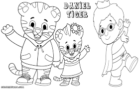 Small Picture Daniel Tiger Coloring Pages ngbasiccom