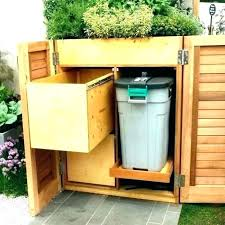 garbage can shed storage for garbage cans outside can shed outdoor trash wheels c wood garbage shed plans