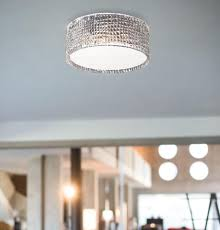 Round Murano Glass Ceiling Light Fitting In 3 Colours