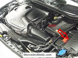 mercedes benz cla fuses location designation map cla fuses in engine compartment