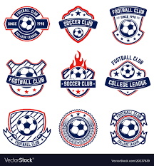 Football Emblem Design Set Of Soccer Football Emblems Design Element For
