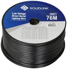 Southwire 250 Ft 12 2 Landscape Lighting Cable Solidlink 250ft Low Voltage 12 2 Direct Burial Bare Copper Lighting Wire Parallel Flat Twin Cable For Landscape Lights Black