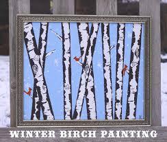 Winter Birch Painting