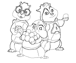 Small Picture Alvin And The Chipmunks Drawings AZ Coloring Pages Line