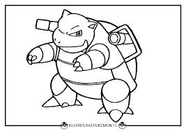 Blastoise Kleurplaten Gratis Printen Kleurplaat Pokémon