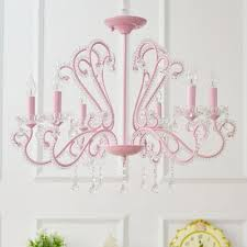 contemporary chandelier 6 8 light candle style pink crystal chandelier with crystal