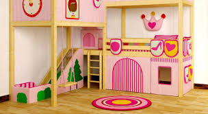 bunk beds with slide and swing. Wonderful Slide Complete Bunk Beds For Girls With Pink Slide And Swing Inside Fun Girl  Bedroom Round On With And B