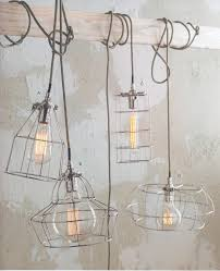 Eclectic lighting fixtures Hallway Factory Wire Cage Lamps Industrial Eclectic Vintage Open Exposed Bulb Lamp Lighting Ideas For The House Different Shapes Pinterest Caged In Wire Décor Home Things Pinterest Lighting Light