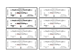 Event Ticket Template Word Ticket Word Template Magdalene Project Org