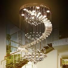 9 lights modern led crystal ceiling pendant light indoor chandeliers home hanging down lighting lamps fixtures