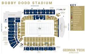 Georgia Tech Basketball Stadium Seating Chart Bobby Dodd Stadium Map Georgia Tech Yellow Jackets