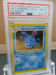 Light Azumarill Holo Details About Light Azumarill 13 105 1st Edition Neo Destiny Psa 10 Gem Mint Holo Pokemon Card
